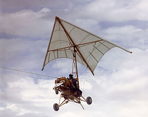 Rogallo wing - NASA Paresev, a Rogallo flexible wing tested by NASA for spacecraft landing research.