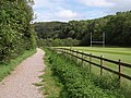 Path by the rugby pitch - geograph.org.uk - 2590381.jpg