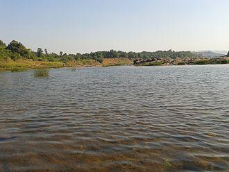 Dharampur, Gujarat - Pathari River at Ashram Nani Vahial Dakshin Gujarat Sevamandal.