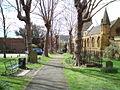 Pathway though Holy Sep church Northampton.jpg