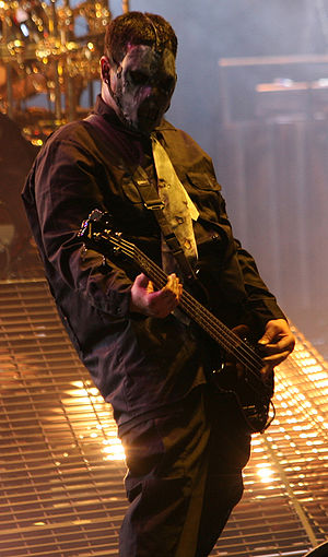 Paul Gray (American musician) - Paul Gray performing with Slipknot in 2008.