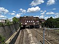 Pawtucket - Central Falls station from Barton Street, August 2015.JPG