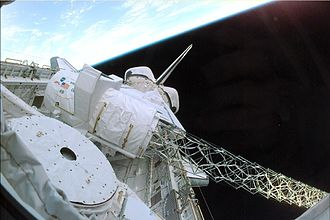 STS-99 - Image: Payload bay sts 99