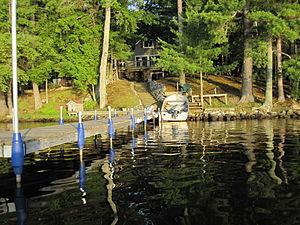 Pelican Lake Fishing 7-3-2009 end of pier.jpg