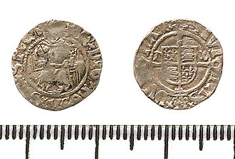 History of the English penny (1485–1603) - Silver penny of Henry VIII.