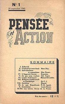 Pensamiento y Acción,No.1, 20 de septiembre de 1945.