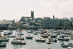 Penzance harbour and church.jpg