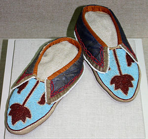 Peoria people - Peoria moccasins, ca. 1860, collection of Oklahoma History Center