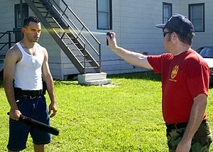 Pepper spray Demonstration; U.S. Marine Corps ...