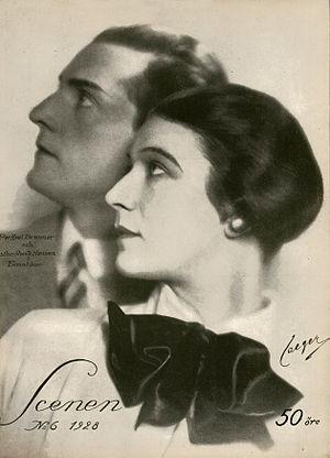 Per-Axel Branner - In 1928 with actress Ester Roeck-Hansen.
