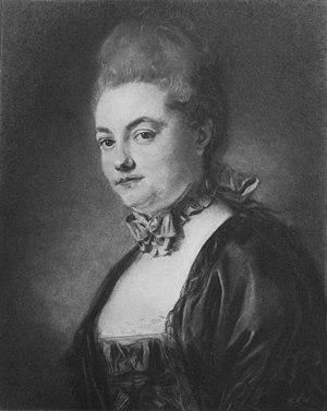 Le déserteur - Marie-Thérèse Laruette Pastel by Jean-Baptiste Perronneau