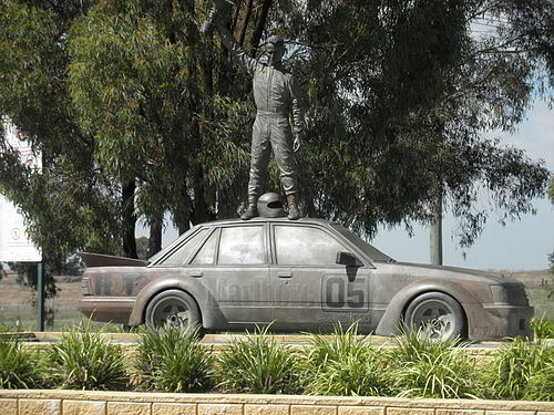 The Peter Brock Memorial at the National Motor Racing Museum in Bathurst. Peter Brock Memorial Bathurst.jpg