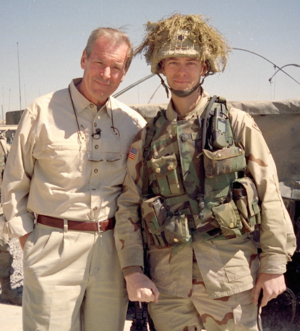 Steve Russell (politician) - Russell with Peter Jennings in Tikrit, Iraq in March 2004