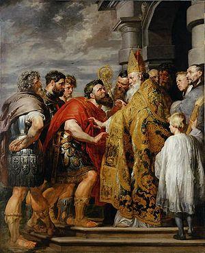 Theodosius and Saint Ambrose (Rubens) - Image: Peter Paul Rubens 139