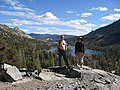 Peter and I above Echo Lake (3071919115).jpg