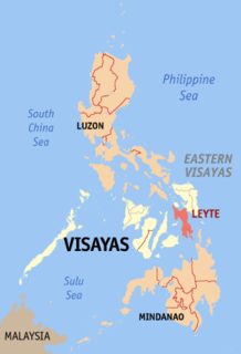 Leyte island in the Visayas region of the Philippines