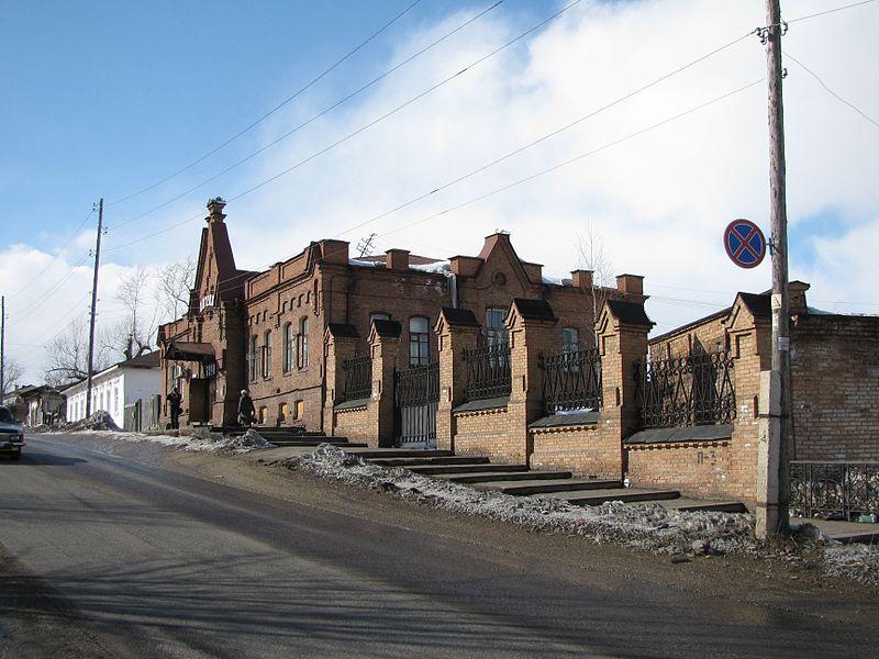 Панорама улицы в Енисейске.