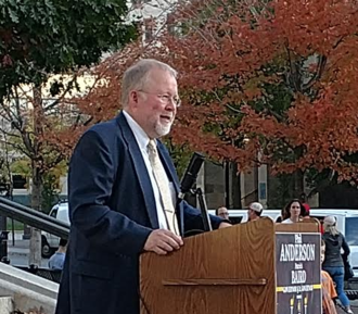 Phil Anderson (politician) - Phil Anderson announcing his campaign for Governor on the steps of the State Capitol, October 2017