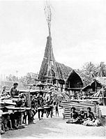 Picturesque New Guinea Plate XXX - The Chief's Spire House at Kalo.jpg