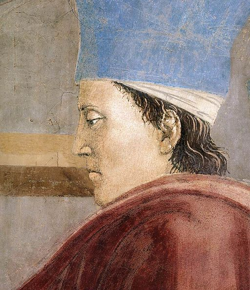 Piero della Francesca, Le Storie della Vera Croce, Verifica e Adorazione della Croce (particolare)