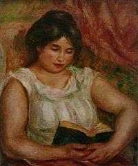 Gabrielle lisant