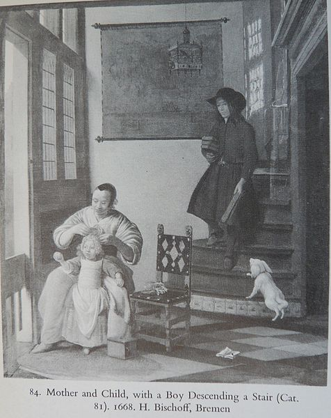 File:Pieter de Hooch - Mother and Child with a Boy descending a Stair.jpg