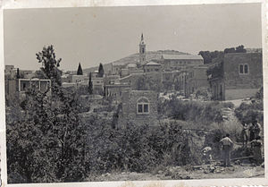 Church of the Visitation - a view of the church in 1949