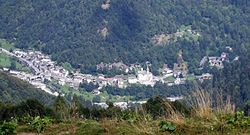 Panorama from alpe Meggiana