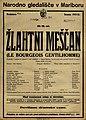 Plakat za predstavo Žlahtni meščan v Narodnem gledališču v Mariboru 7. februarja 1926.jpg