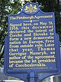 Plaque in Pittsburgh, PA, USA, commemorating founding of Czechoslovakia there in May, 1918.jpg