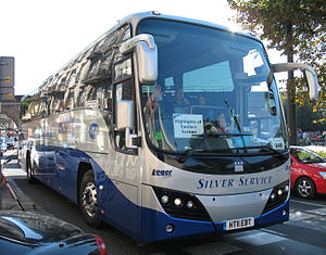 Plaxton Panther - Leger Holidays Plaxton Panther 2 bodied Volvo B9R in August 2011.