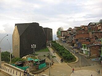 Biblioteca de España (Medellín) - Spain Library, located in the 1st commune of Medellín.