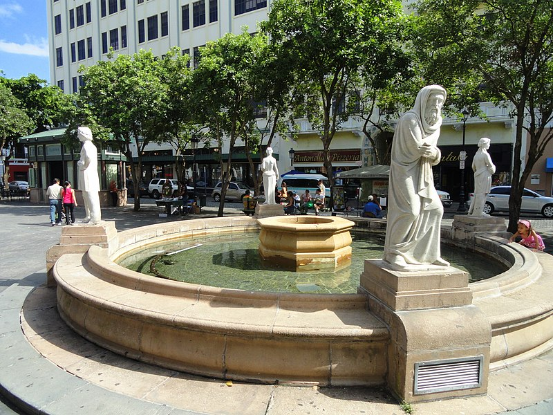 Description plaza de armas fountain san juan puerto rico dsc07112