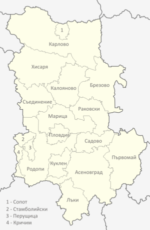 Plovdiv Province - Municipalities of Plovdiv province