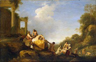 Cornelis van Poelenburgh - Landscape with Diana and Callisto
