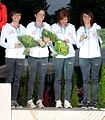 Polish 4 x 100 m women team Helsinki 2012.jpg