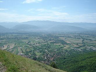 Polog - Polog Valley, as seen from Šar Mountain.
