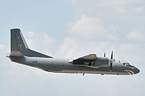 Poroshenko Chuhuiv air base Antonov An-26 Ukraine Air Forces.jpg