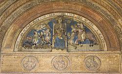 Lunetta del Duomo di Verona, opera di Niccolò