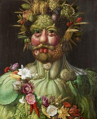 Porträtt, Rudolf II som Vertumnus. Guiseppe Arcimboldo - Skoklosters slott - 87582.jpg