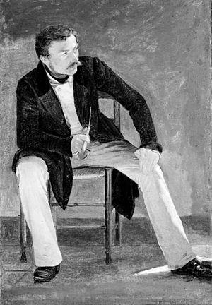 Constantin Hansen - Portrait of Constantin Hansen by Albert Küchler (1837)