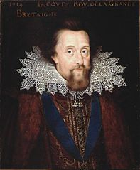 Portrait of James I (1566-1625), King of England