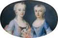 Portrait of two daughters of Maria Theresa, miniature - Hofburg.png