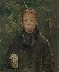 Portrait of a Girl with a Bunch of Flowers