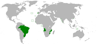 Realm - United Kingdom of Portugal, Brazil and the Algarves with all its colonies. Example of kingdom out of an empire. (Extinct country that had a royal throne.)