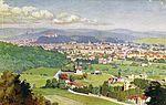 Postcard of Ljubljana from Rožnik 1930.jpg