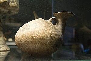 "Phylakopi -  ""Duck vase"" from Milos, Phylakopi I culture. Cycladic Early Bronze Age 2800-2000 BC, British Museum"
