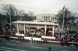 North Lawn (White House) - Presidential reviewing stand and North Lawn.