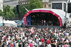 Pride London - Pride London 2008, the Main Stage in Trafalgar Square