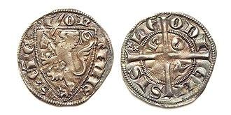 John of Flanders - Sterling of John of Flanders, struck in Huy